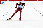 Finn Haagen Krogh competes during the 10 Km Individual Free race of Tour de ski as part of the FIS Cross Country Ski World Cup  in Dobbiaco, Toblach, on January 8, 2016. Finn Haagen Krogh wins the stage. Martin Johnsrud Sundby (2nd) remains leader. French Maurice Manificat is third. Credit: Pierre Teyssot