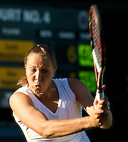 Lucie Hradecka (CZE) against Ana Ivanovic (SRB) (13) in the first round of the ladies singles. Ivanovic beat Hradecka 7-5 2-6 8-6..Tennis - Wimbledon - Day 2 - Tues 23rd June 2009 - All England Lawn Tennis Club  - Wimbledon - London - United Kingdom..Frey Images, Barry House, 20-22 Worple Road, London, SW19 4DH.Tel - +44 20 8947 0100.Cell - +44 7843 383 012