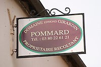 Domaine Edmond Girardin. The village. Pommard, Cote de Beaune, d'Or, Burgundy, France
