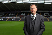 Pictured: Swansea City FC chairman Huw Jenkins<br /> Re: Official launch of the 2013-2014 Swansea City Football Club kit launch, with sponsors Goldenway GWFX at the Liberty Stadium, Swansea, south Wales. Friday 28th of June 2013
