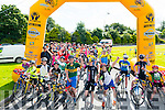 Starting line of Ring of the Reeks cycle in Beaufort GAA club last Saturday morning.