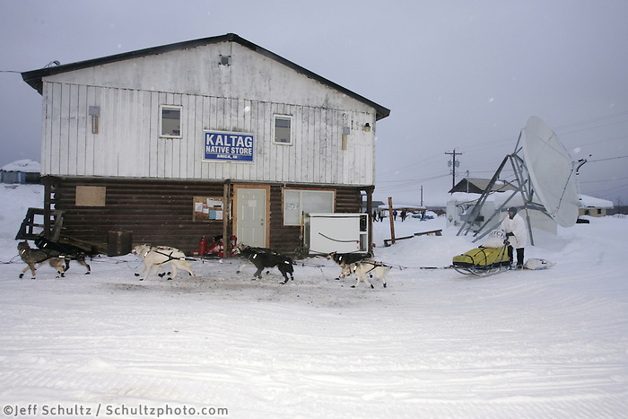 at the Kaltag checkpoint.  2005 Iditarod Trail Sled Dog Race.