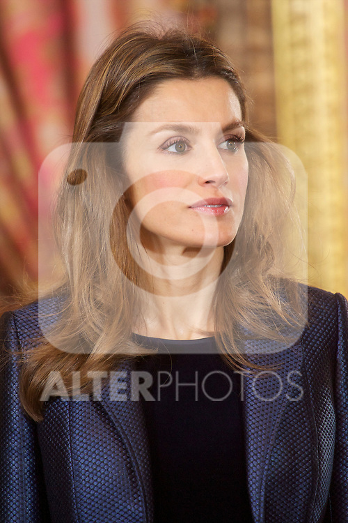 Spanish King Juan Carlos, Queen Sofia, Prince Felipe and Princess Letizia attended the Reception to Foreign Ambassadors at The Royal Palace in Madrid..©ALFAQUI FOTOGRAFIA