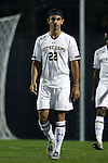 17 October 2014: Notre Dame's Luke Mishu. The Duke University Blue Devils hosted the Notre Dame University Fighting Irish at Koskinen Stadium in Durham, North Carolina in a 2014 NCAA Division I Men's Soccer match. Notre Dame won the game 4-1.