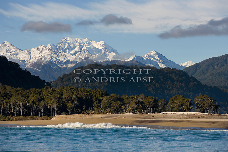 Mount Cook from the Jacobs River area. Westland Region. New Zealand.