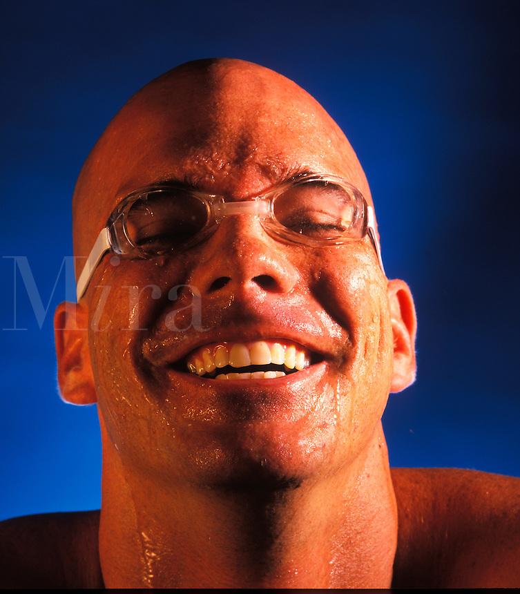 Smiling swimmer.