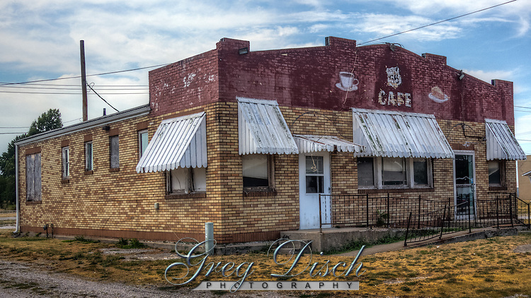 The former Belevidere Motel, Cafe, and Gas Station in Litchfield Illinois, on Route 66.  Origninally opened as a one room gas station in 1929, Albin and Vencenzo Cerolla, expanded into a full service complex with gas station, cafe, and motel by 1936.  The business closed when route 66 was bypassed by Interstate 55 in the 1970's.