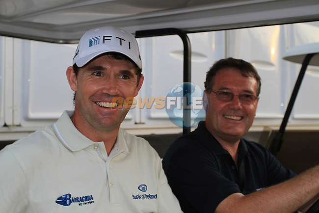 Padraig Harrington all smiles after finishing his round on 7 under during  Day 2 at the Dubai World Championship Golf in Jumeirah, Earth Course, Golf Estates, Dubai  UAE, 20th November 2009 (Photo by Eoin Clarke/GOLFFILE)