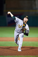Mesa Solar Sox pitcher Sam Bragg (31), of the Oakland Athletics organization, during a game against the Scottsdale Scorpions on October 17, 2016 at Scottsdale Stadium in Scottsdale, Arizona.  Mesa defeated Scottsdale 12-2.  (Mike Janes/Four Seam Images)
