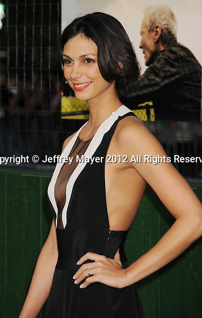 WESTWOOD, CA - SEPTEMBER 19: Morena Baccarin arrives at the 'Trouble With The Curve' at Mann's Village Theatre on September 19, 2012 in Westwood, California.