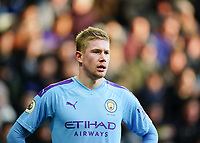 30th November 2019; St James Park, Newcastle, Tyne and Wear, England; English Premier League Football, Newcastle United versus Manchester City;  Kevin de Bruyne of Manchester City  - Strictly Editorial Use Only. No use with unauthorized audio, video, data, fixture lists, club/league logos or 'live' services. Online in-match use limited to 120 images, no video emulation. No use in betting, games or single club/league/player publications