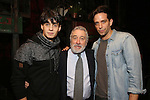 Bobby Conte Thornton, Robert De Niro and Nick Cordero during the Actors' Equity Gypsy Robe Ceremony honoring Jonathan Brody for  'A Bronx Tale'  at The Longacre on December 1, 2016 in New York City.