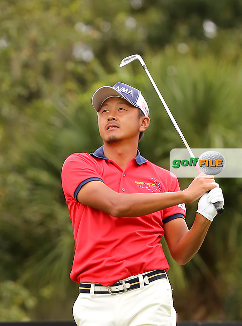 15 OCT 01 Japan's Hiroshi Iwata will earn his PGA Tour membership card after Sunday's Final Round of The WEB.com Tour Championship at The TPC Sawgrass Valley Course in Ponte Vedra Beach, Florida.(photo credit : kenneth e. dennis/kendennisphoto.com)