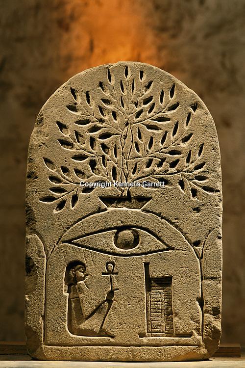 Sandstone stela to the the god Osiris.