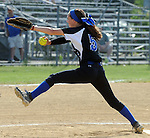 (Lowell MA 06/14/15)  Methuen starting pitcher Kayleigh Forgetta, pitching during the MIAA Division 1 State Final game, Sunday, June 14, 2015, at Martin Park in Lowell. Herald Photo by Jim Michaud