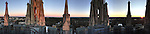 Sunset at Duke<br /> Joni Harris<br /> Duke employee<br /> Joni.harris@duke.edu<br /> <br /> This photo was taken from the top of the Chapel tower.  Duke is beautiful from above and witnessing a sunset at Duke from the tower is amazing!