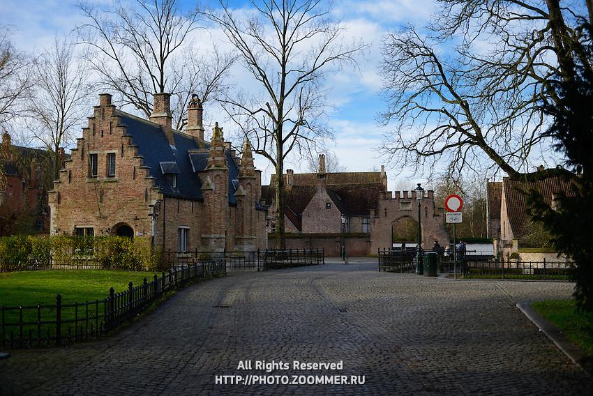 Begijnhof In Brugge, Belgium