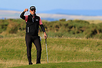 Rafa Cabrera Bello (ESP) looking for a referee on the 17th during Round 3 of the Alfred Dunhill Links Championship 2019 at St. Andrews Golf CLub, Fife, Scotland. 28/09/2019.<br /> Picture Thos Caffrey / Golffile.ie<br /> <br /> All photo usage must carry mandatory copyright credit (© Golffile | Thos Caffrey)