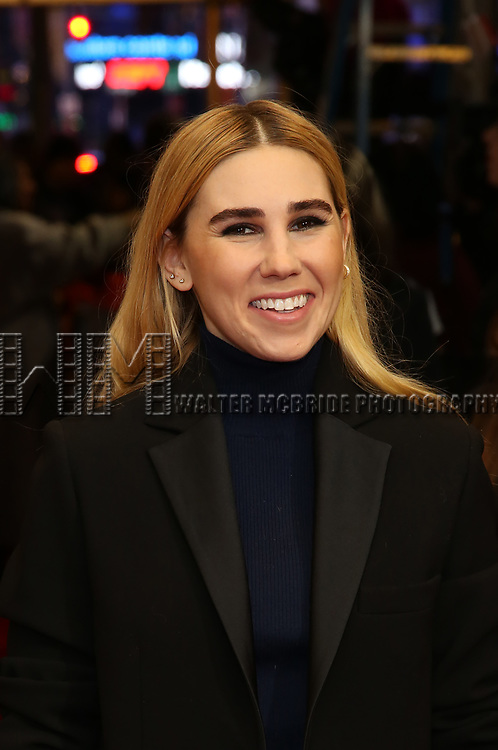 """Zosia Mamet attends the Broadway Opening Night Performance of """"To Kill A Mockingbird"""" on December 13, 2018 at The Shubert Theatre in New York City."""