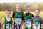 Millstreet AC runners on the starting line of the Gneeveguilla AC winter race series in Killarney on Saturday l-r: Donal Burke, Daira O'Shea, Caoimhe O'Leary and Eimear O'Leary