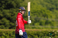 Tom Westley of Essex celebrates scoring a half century of runs (fifty) during Middlesex vs Essex Eagles, Royal London One-Day Cup Cricket at Radlett Cricket Club on 17th May 2018