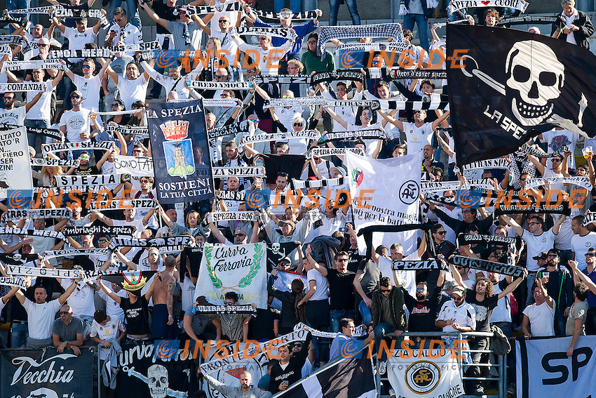 Tifosi Spezia<br /> Livorno 25-10-2014 Stadio Armando Picchi - Football Calcio Serie B 2014 / 2015 Livorno - Spezia<br /> Foto Andrea Masini / Insidefoto