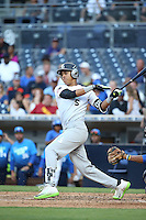 Mark Vientos (5) of the East Team bats against the West Team during the Perfect Game All American Classic at Petco Park on August 14, 2016 in San Diego, California. West Team defeated the East Team, 13-0. (Larry Goren/Four Seam Images)
