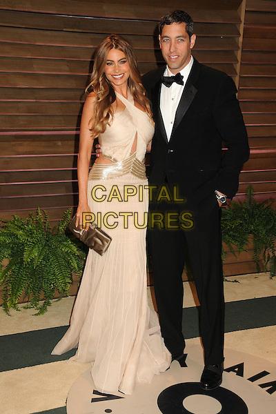 02 March 2014 - West Hollywood, California - Sofia Vergara, Nick Loeb. 2014 Vanity Fair Oscar Party following the 86th Academy Awards held at Sunset Plaza.  <br /> CAP/ADM/BP<br /> &copy;Byron Purvis/AdMedia/Capital Pictures