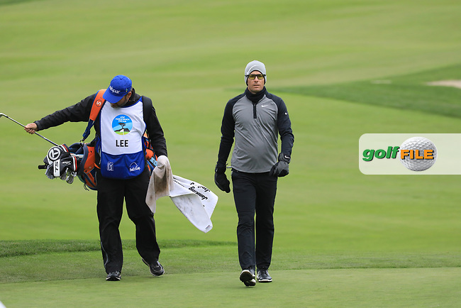 Dylan Frittelli (RSA) in action at Monterey Peninsula Country Club during the second round of the AT&T Pro-Am, Pebble Beach Golf Links, Monterey, USA. 08/02/2019<br /> Picture: Golffile | Phil Inglis<br /> <br /> <br /> All photo usage must carry mandatory copyright credit (© Golffile | Phil Inglis)