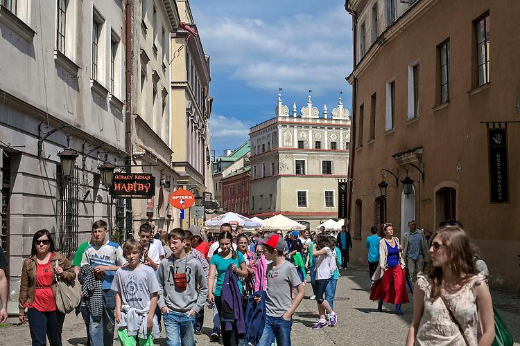 Zabytkowe kamienice przy rynku w Lublinie