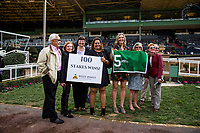 ARCADIA, CA - FEBRUARY 10: Westpoint owners celebrate their 100th Stakes winner at Santa Anita Park on February 10, 2018 in Arcadia, California. (Photo by Alex Evers/Eclipse Sportswire/Getty Images)