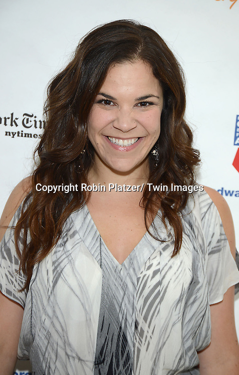 Lindsay Mendez attends the 27th Annual Broadway Flea Market and Grand Auction benefitting Broadway Cares/ Equity Fights Aids on September 22, 2013 at Shubert Alley in New York City.