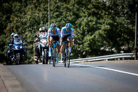 Teammates Guillaume Boivin (CAN/Israel Cycling Academy) and  Tom Van Asbroeck (BEL/Israel Cycling Academy) formed together the break away group of the day but would eventually be caught during the last lap. <br /> <br /> 94th Schaal Sels 2019<br /> One Day Race: Merksem  >  Merksem  (UCI 1.1)<br /> ©kramon