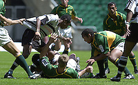 25/05/2002 (Saturday).Sport -Rugby Union - London Sevens.South Africa vs Fiji[Mandatory Credit, Peter Spurier/ Intersport Images].