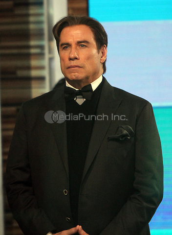 02  02, 2016:  John Travolta at Good Morning America to talk about  The People vs O.J. Simpson in New York. Credit:RW/MediaPunch