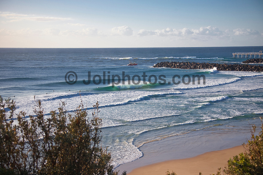 Friday May 8, 2010.  Surfing at D-bah, Coolangatta, Queensland, Australia. Photo: joliphotos.com