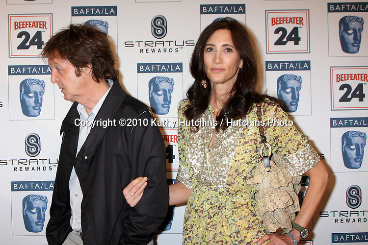 Paul McCartney, Nancy Shevell.arriving at the BAFTA/LA Awards Season Tea Party 2010.Beverly Hills Hotel.Beverly Hills, CA.January 16, 2010.©2010 Kathy Hutchins / Hutchins Photo....