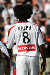 24 April 2004: Damani Ralph showing off his new hairstyle before the game. The Chicago Fire defeated DC United 1-0 at RFK Stadium in Washington, DC on opening day of the regular season in a Major League Soccer game..
