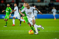 Andre Ayew of Swansea turns to score during the Barclays Premier League match between Swansea City and Sunderland played at the Liberty Stadium, Swansea  on  January the 13th 2016
