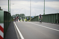 Iljo Keisse (BEL/Etixx-QuickStep) going at it again (outriding the breakaway group) as the race is entering the finale<br /> <br /> stage 3: Buchten-Buchten (190km)<br /> 29th Ster ZLM Tour 2015
