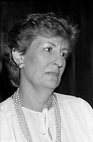 FILE PHOTO -  Lise Bacon, Ministre de la culture,<br /> <br /> party de cloture du Festival des Films du Monde, le 1er septembre 1986.<br /> <br /> PHOTO : Pierre Roussel<br />  - Agence Quebec Presse