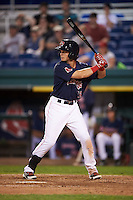 Portland Sea Dogs designated hitter Andrew Benintendi (18) at bat during a game against the Reading Fightin Phils on May 31, 2016 at Hadlock Field in Portland, Maine.  Reading defeated Portland 6-4.  (Mike Janes/Four Seam Images)