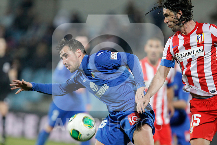 Getafe's Paco Alcacer during king's Cup match. January 10, 2013. (ALTERPHOTOS/Alvaro Hernandez)