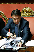 Giuseppe Conte<br /> Rome December 12th 2019. Speech of the Italian Premier about MES, European Stability Mechanism.<br /> Foto Samantha Zucchi Insidefoto