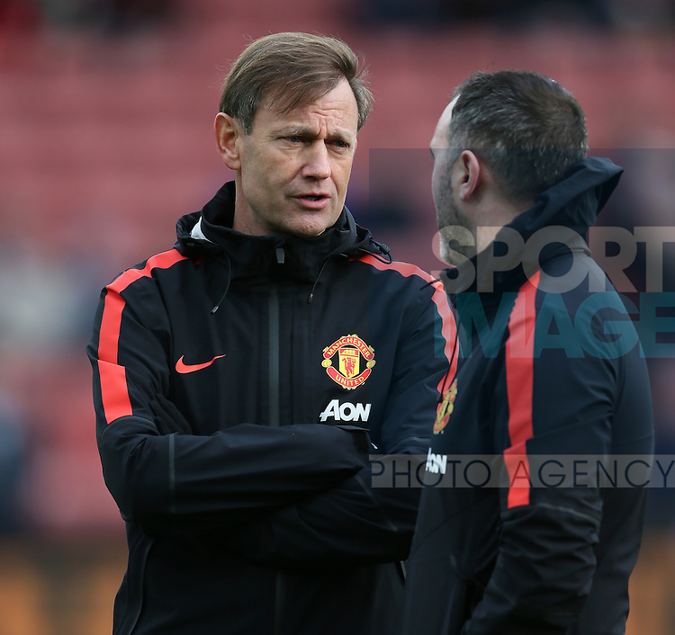Frans Hoek Manchester Utd Goalkeeping coach - Barclays Premier League - Stoke City vs Manchester Utd - Stoke - England - 1st January 2015 - Picture Simon Bellis/Sportimage