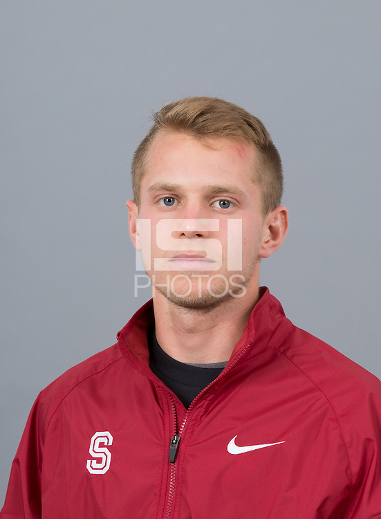 STANFORD, CA - SEPTEMBER 24, 2014--Marco Bertolotti, with Stanford University Cross Country Team