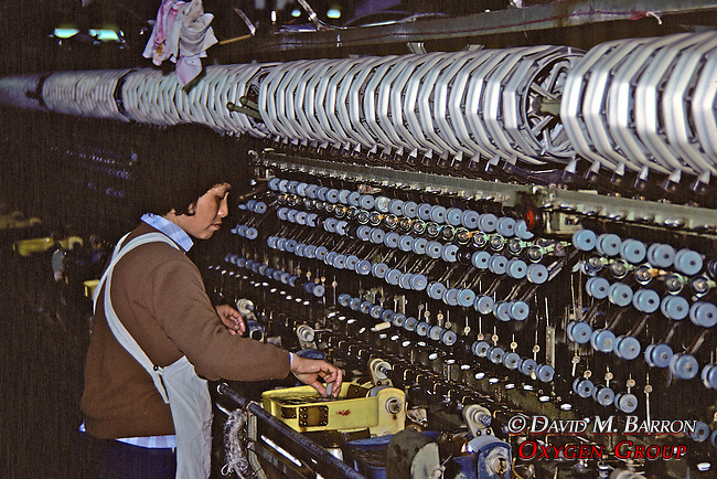 Worker in Silk Factory