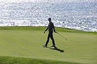 Jordan Spieth (USA) on the 7th green at Pebble Beach Golf Links during Saturday's Round 3 of the 2017 AT&amp;T Pebble Beach Pro-Am held over 3 courses, Pebble Beach, Spyglass Hill and Monterey Penninsula Country Club, Monterey, California, USA. 11th February 2017.<br /> Picture: Eoin Clarke | Golffile<br /> <br /> <br /> All photos usage must carry mandatory copyright credit (&copy; Golffile | Eoin Clarke)