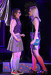 Azalea Lewis and Claire Autran during The Dare Tactic production of 'A Roller Rink Temptation' at  WOW Cafe on May 25, 2018 in New York City.