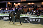 Winner John Whitaker on Argento takes a lap of honour at the conclusion of the AirbusTrophy at the Longines Masters of Hong Kong on 20 February 2016 at the Asia World Expo in Hong Kong, China. Photo by Juan Manuel Serrano / Power Sport Images
